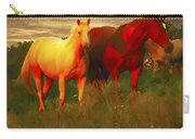Horses Soft And Sweet Carry-all Pouch