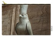 Horus The Falcon At Edfu Carry-all Pouch by Bob Christopher