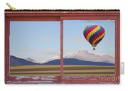 Hot Air Balloon And Longs Peak Red Rustic Picture Window View Carry-all Pouch