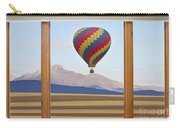 Hot Air Balloon Colorado Wood Picture Window Frame Photo Art Vie Carry-all Pouch