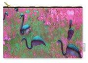 Hot Pink Flamingos Garden Abstract Art  Carry-all Pouch