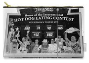Hotdog Eating Contest Time In Black And White Carry-all Pouch