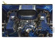 Hotrod Engine In Blue Carry-all Pouch