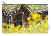 House Behind Yellow Flowers Carry-all Pouch by Heiko Koehrer-Wagner