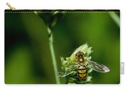 Hoverfly On Grass Carry-all Pouch