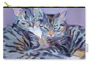Hugs Purrs And Stripes Carry-all Pouch by Kimberly Santini