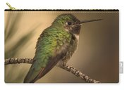 Humming Bird On Branch Carry-all Pouch