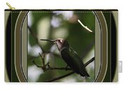 Hummingbird - Card - Glint Of The Eye Carry-all Pouch