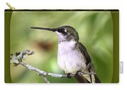 Hummingbird - Gold And Green Carry-all Pouch