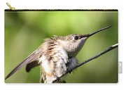 Hummingbird - Ruby-throated Hummingbird - Stretch Time Carry-all Pouch