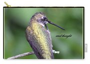Hummingbird - Thinking Of You Carry-all Pouch