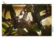 Hummingbird Mother Feeding Her Two Babies II Carry-all Pouch