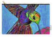 Hummingbird On Blue Carry-all Pouch