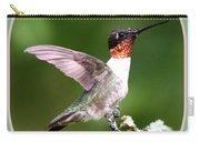 Hummingbird Photo - Light Green Carry-all Pouch