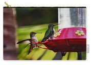 Hummingbirds At The Feeder Carry-all Pouch