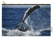 Humpback Whale Flipper Slap Hawaii Carry-all Pouch