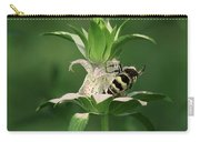 Hunter Wasp On  Beebalm Carry-all Pouch