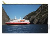 Hurtigruten Ship In Troll Fjord Carry-all Pouch