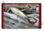 Husband Anniversary Card - Saltwater Fishing Lure - Popper Carry-all Pouch