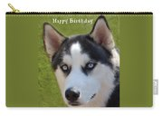 Husky Birthday  Carry-all Pouch by Aimee L Maher Photography and Art Visit ALMGallerydotcom