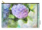 Hydrangea Art Greeting Card Carry-all Pouch