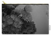 Hydrangea Boquet Black And White Carry-all Pouch