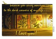 I Love You Night Graffiti Greeting Card Carry-all Pouch