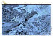 Ice Blue - Abstract Art Carry-all Pouch by Carol Groenen