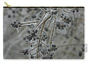 Ice- Coated Hawthorn Branch Carry-all Pouch