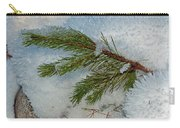 Ice Crystals And Pine Needles Carry-all Pouch