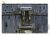 Ice Crystals On Wooden Gate Carry-all Pouch