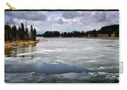 Ice On The Yellowstone River Carry-all Pouch