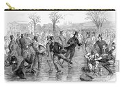 Ice Skating, 1847 Carry-all Pouch
