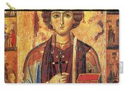 Icon Of Saint Pantaleon Carry-all Pouch by Science Source
