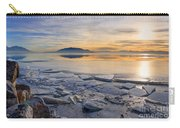 Icy Sunset On Utah Lake Carry-all Pouch