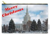 If Temple Christmsa Card 1 Carry-all Pouch