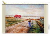 Ile D'orleans Road To The Red Gabled House Quebec Maritime Landscape Carry-all Pouch