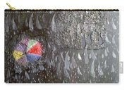 Illusion Of Black Rain Carry-all Pouch