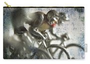 Illustration Of Cyclists Carry-all Pouch