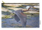 Immature Tricolored Heron Flying Carry-all Pouch