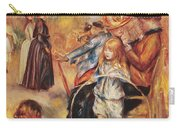 In The Luxembourg Gardens Carry-all Pouch by Pierre Auguste Renoir