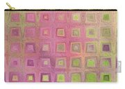 In The Pink With Squarish Squares  Carry-all Pouch