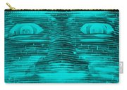 In Your Face In Neagtive Turquois Carry-all Pouch