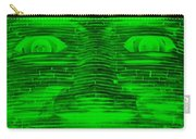 In Your Face In Negative Green Carry-all Pouch