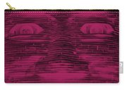 In Your Face In Negative  Hot Pink Carry-all Pouch