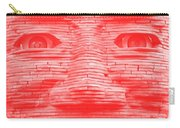 In Your Face In Negative Light Red Carry-all Pouch