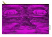 In Your Face In Negative Purple Carry-all Pouch