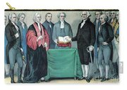 Inauguration Of George Washington, 1789 Carry-all Pouch