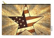 Independence Day Stary American Flag Carry-all Pouch