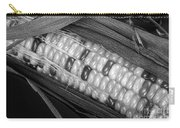 Indian Corn Black And White Carry-all Pouch